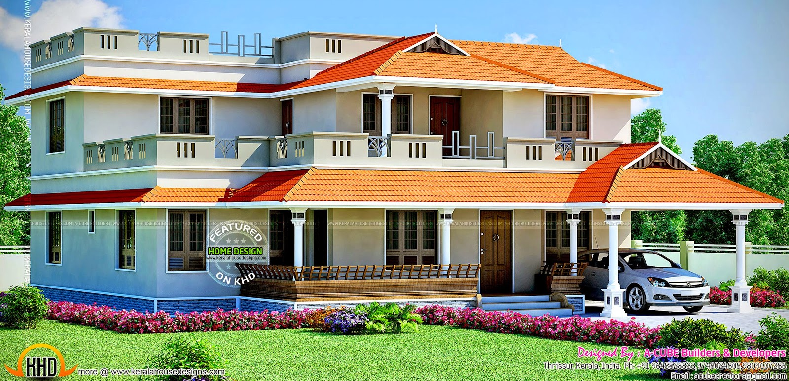 Large house design kerala home design and floor plans for Design this house