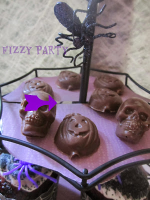 Spider party, Halloween, homemade chocolates