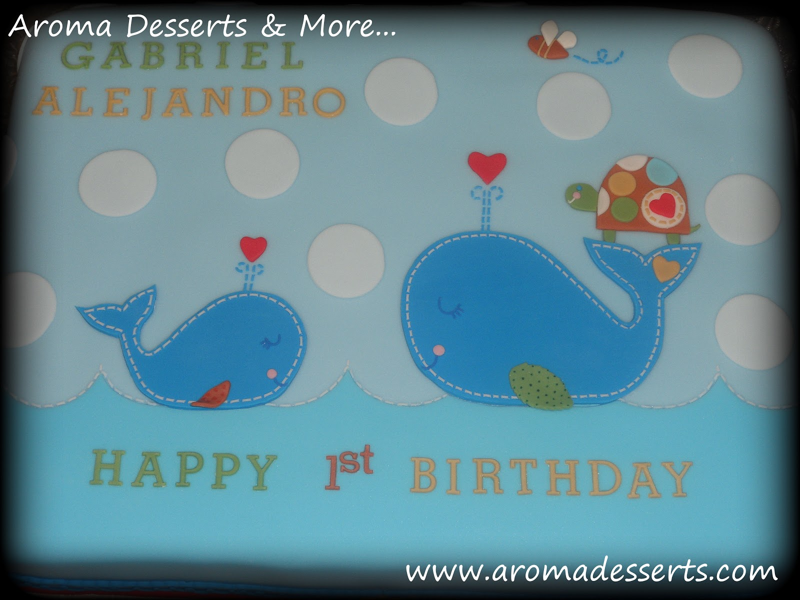 Aroma Desserts And More Ahoy 1st Birthday Cake Whales