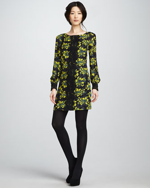 Milly Avery Lace-Panel Dress