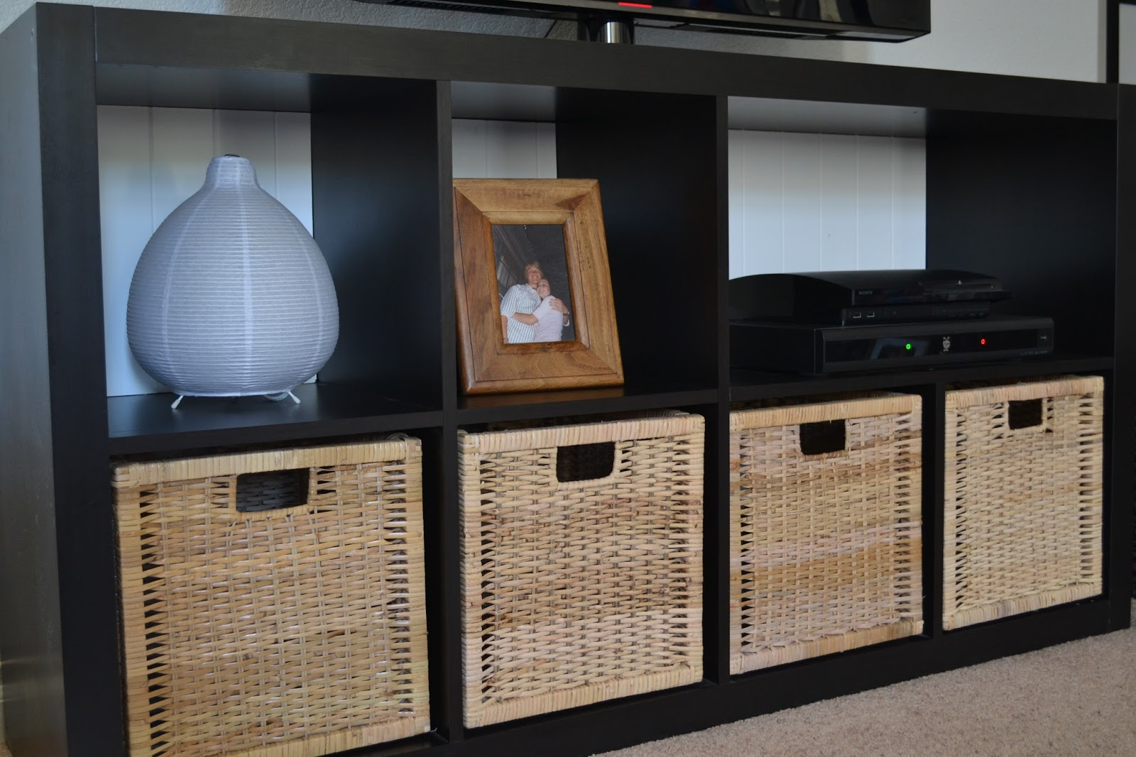 Ikea Godmorgon Tall Cabinet ~ We also finished out the bottom row with two more baskets
