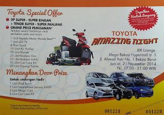 Promo Toyota Bekasi