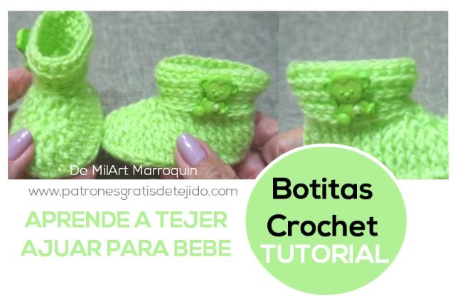 Patucos crochet paso a paso