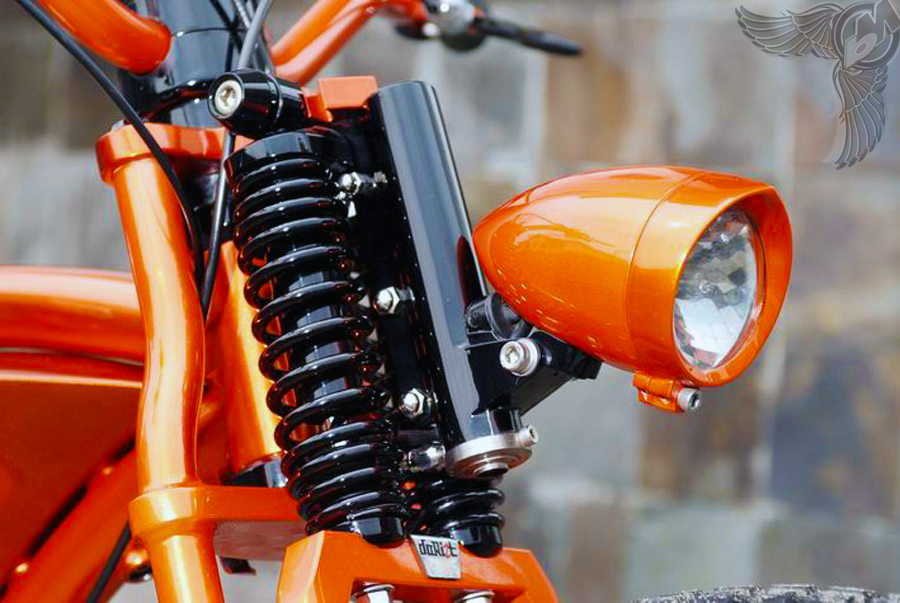 honda cb100 chopper - neck detail | dariztdesign