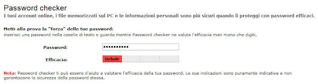 Strumento per il controllo della password