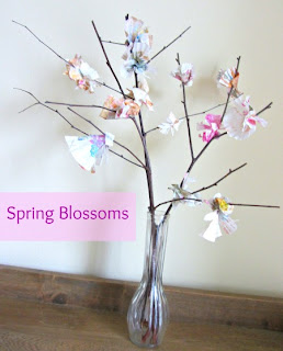 Spring flower, buds, DIY craft, preschool, painting, blossoms, cupcake paper
