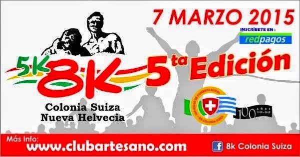8k y 5k Colonia Suiza (Club Artesano, Nueva Helvecia, 07/mar/2015)