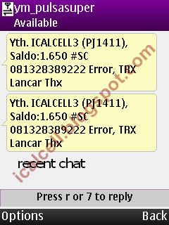 Recent Chat - Yahoo Messenger 1.5.0 For Mobile (nokia)