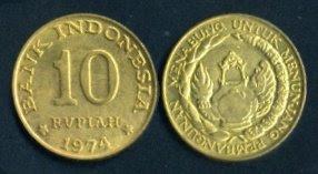 Rp10 tahun 1974