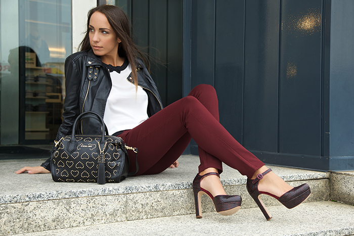 look rock nero bordeaux