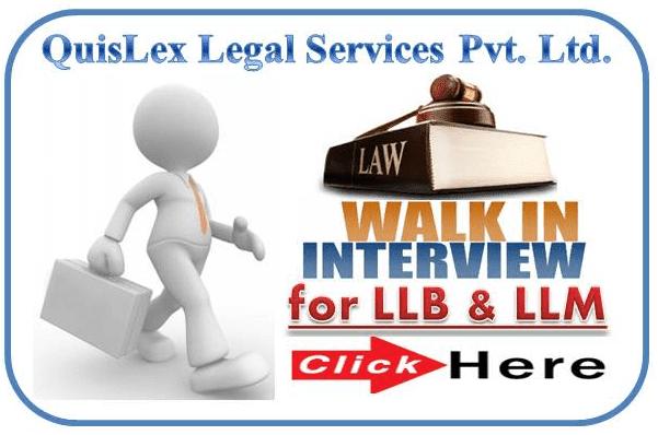 QuisLex Legal Walk In Interview
