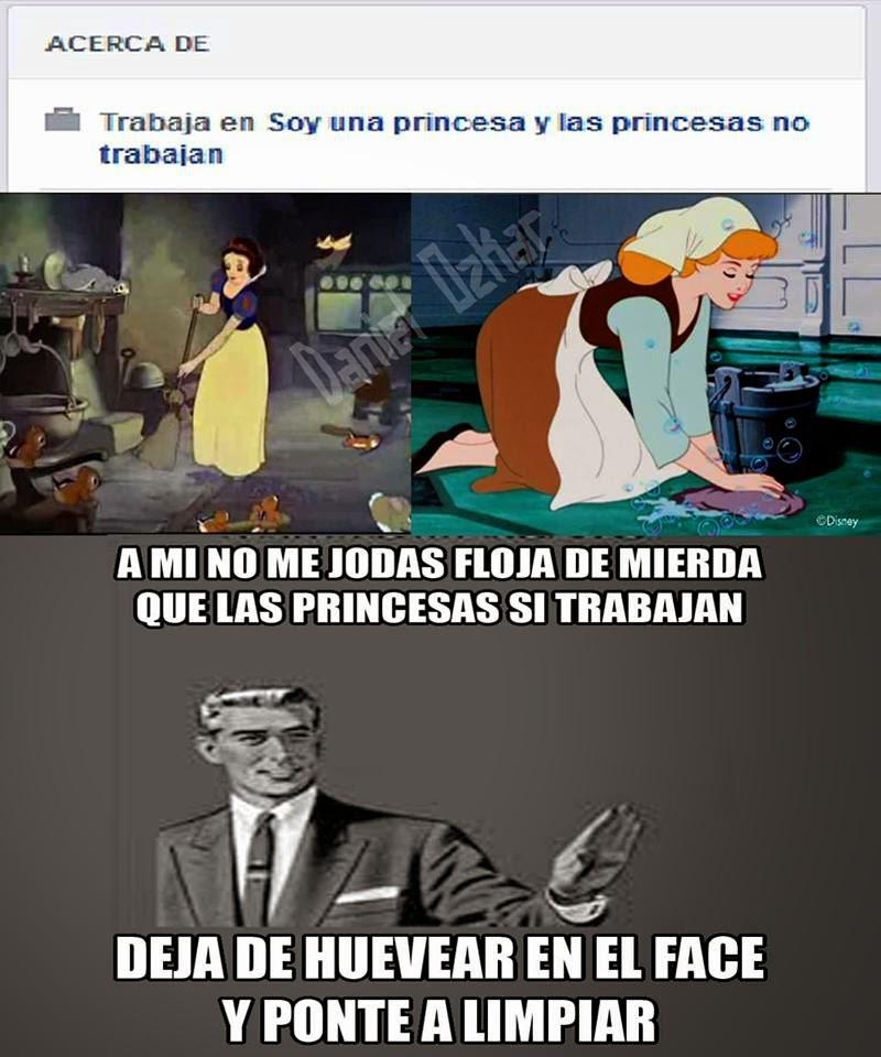 Princesas fáciles meme