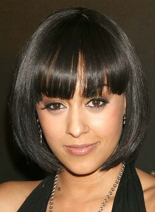 Bob  African American Women Hairstyles with Bangs