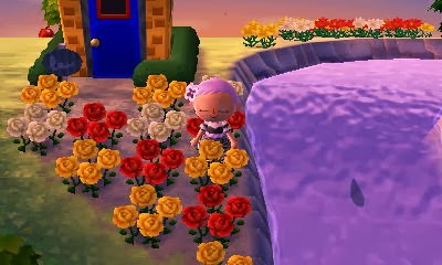 Animal Crossing: New Leaf - stopping to smell the roses