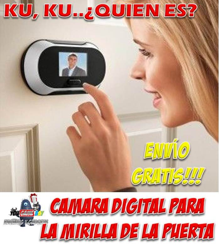 Mirilla digital para puertas camaras de seguridad para hogar - Camaras para casa ...