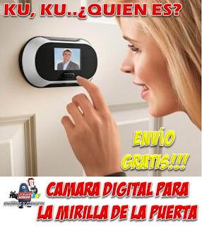 Mirilla digital, cámara de seguridad