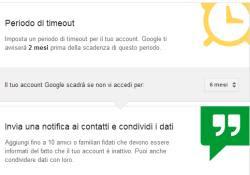 gestione account inattivi google