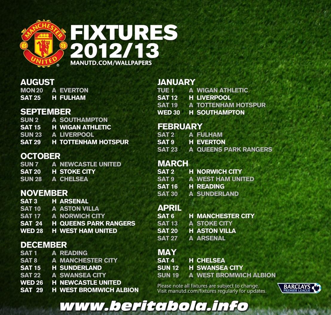 Jadwal Lengkap Manchester United 2013