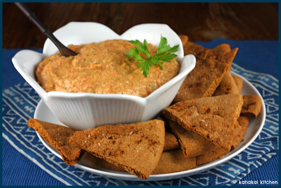Kahakai Kitchen: Baba Ghanoush with Roasted Red Pepper: Smoky, Creamy ...