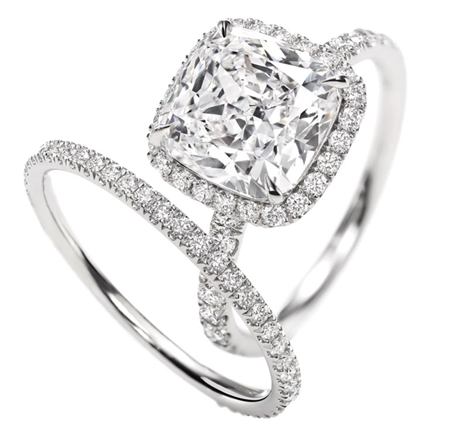 cushion cut engagement rings with halo might be best idea for you personally - Wedding Ring Cuts