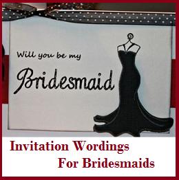 Sample Invitation Wordings Bridesmaids