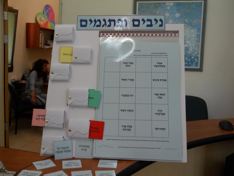 """משחק ניבים ופתגמים, הוכן בשיתוף מרכז פסג""""ה רמת גן"""