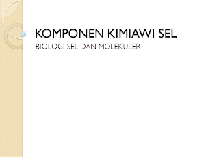 Komponen Kimiawi Sel