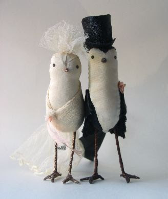 How Do I Love Thee Bliss Bird Cake Toppers