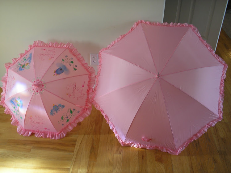 regular parasol compared to red hat size