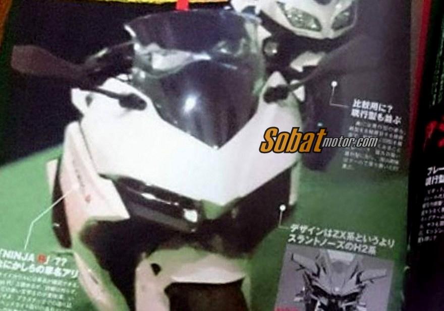 Mirip Ducati Panigale . . inikah tampang terbaru dari penerus Kawasaki Ninja 250 Fi dan 300 Fi nanti ?