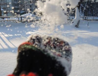 снег природа зима