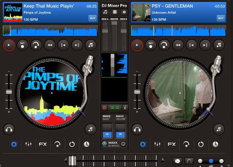 DJ Mixer Professional 3.6.5 Full,Mix nhạc theo phong cách của bạn