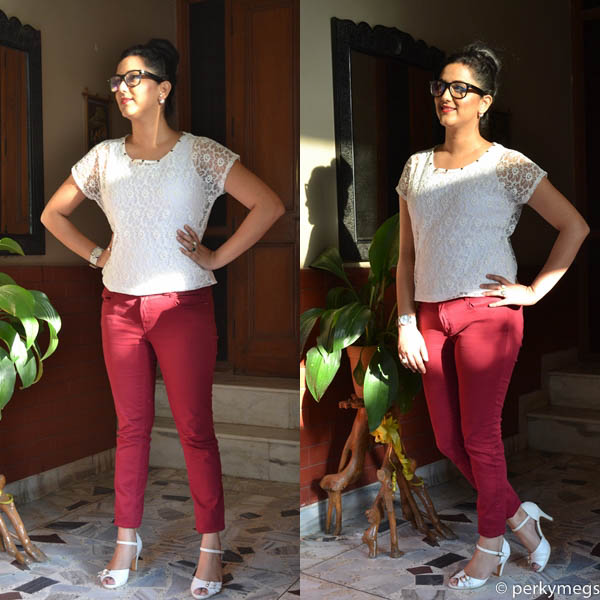 3 chic and stylish looks with Maroon/Burgundy Jeans India