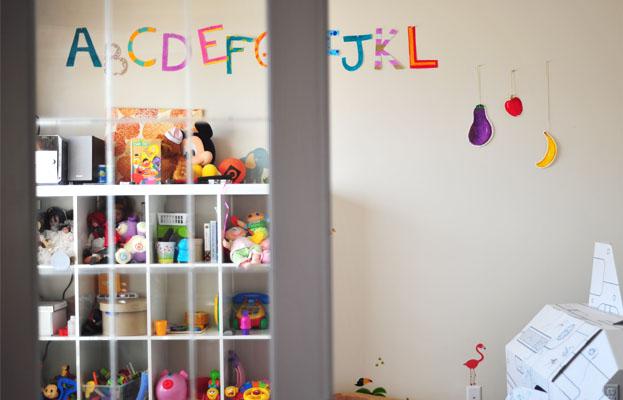 playroom with alphabet