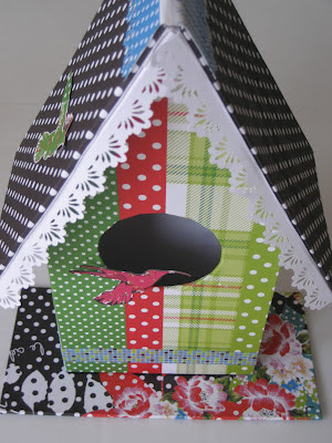 Tutorial casita para pájaros scrapbooking.Birdhouse DIY.  Tutoriel nichoir