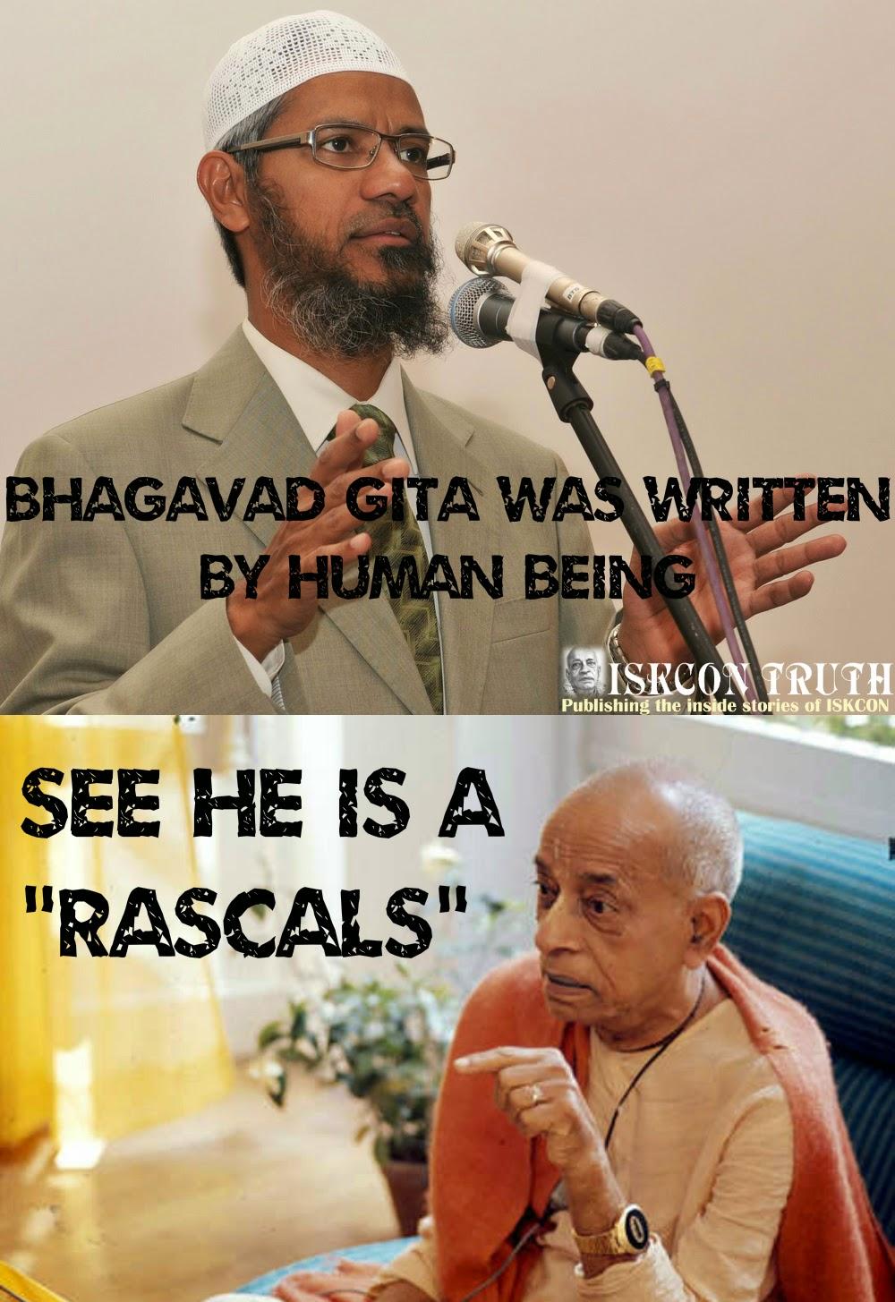 Dr Zakir Naik vs Prabhupada Meme