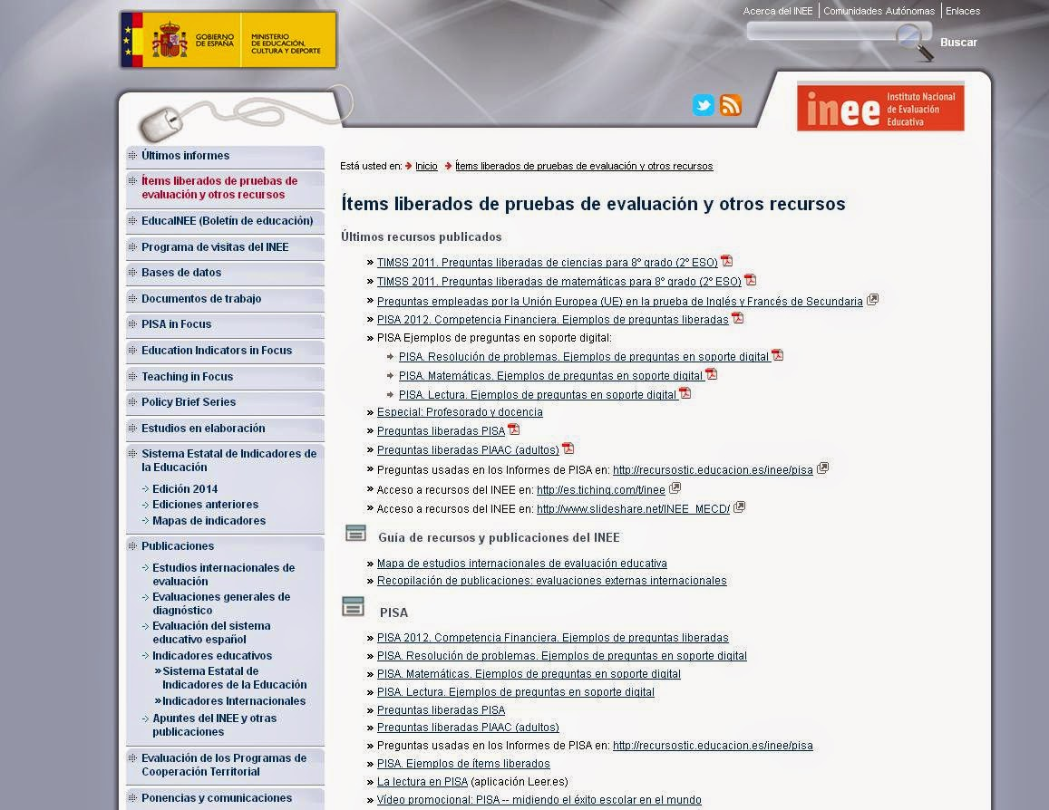 http://www.mecd.gob.es/inee/Recursos.html