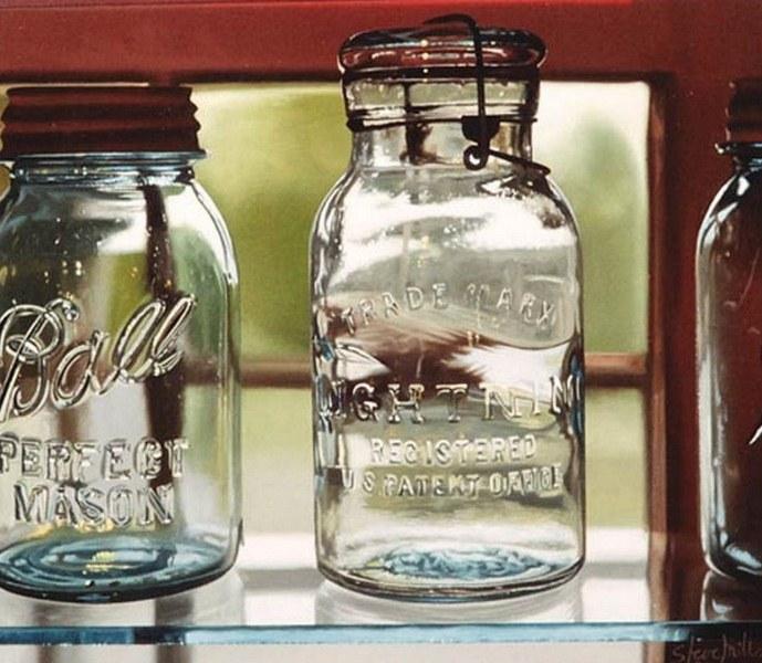 Cuadros pinturas oleos cuadros con botellas - Vidrio plastico para cuadros ...