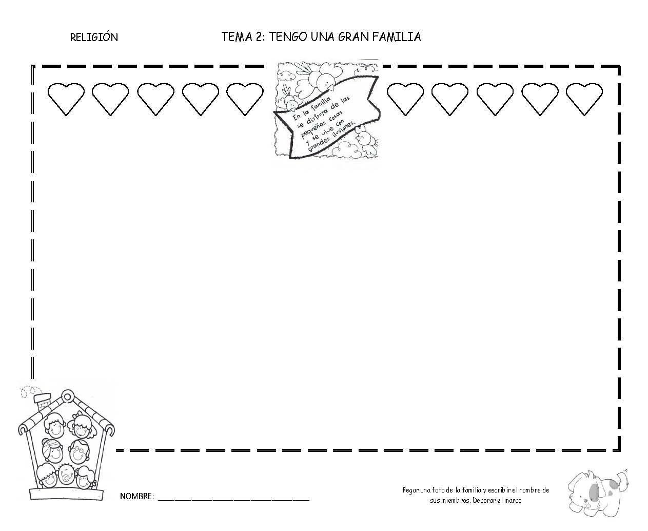 Aprendemos en reli tengo una gran familia infantil 3 a os for Mural una familia chicana