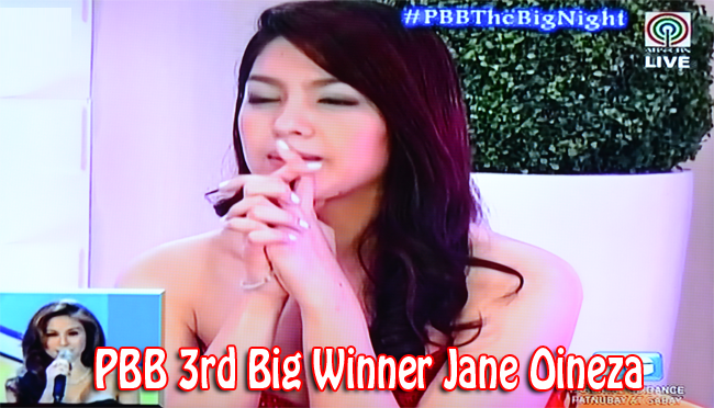 PBB 3rd Big Winner Jane Oineza