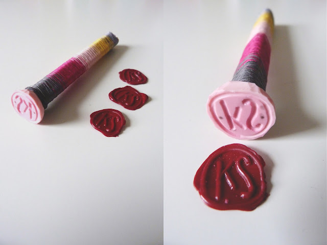 wax seal, gradient colours, wax seal tutorial, handmade