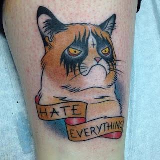 "Tatuaje meme ""Gato no"""