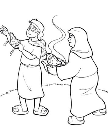 Fantástico Jacob Y Esau Para Colorear Festooning - Páginas Para ...