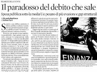 Il paradosso del debito che sale (Sole 24 Ore)