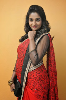 Actress Amitha Rao Pictures in Saree at Chandamama Kathalu Movie Press Meet 0029