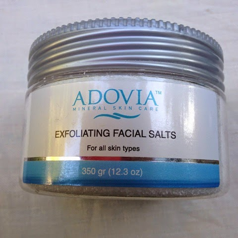 jar of Adovia Exfoliating Facial Salts