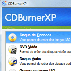 capture d'écran de CDBurnerXP