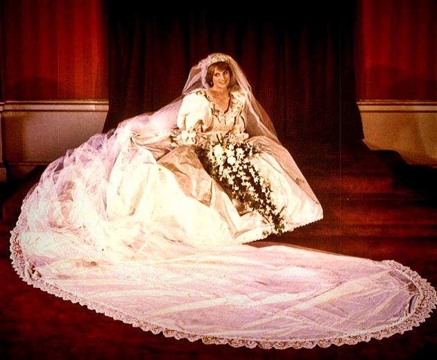 el observador real : el vestido de novia de la princesa de gales