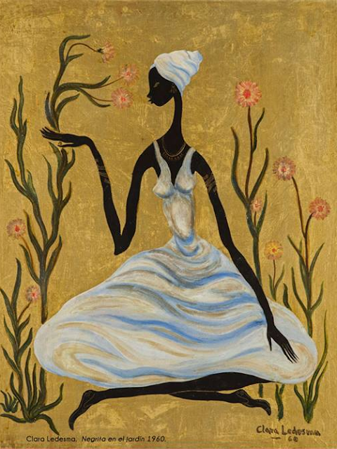 Ledesma. Negrita en Jardin. 1960