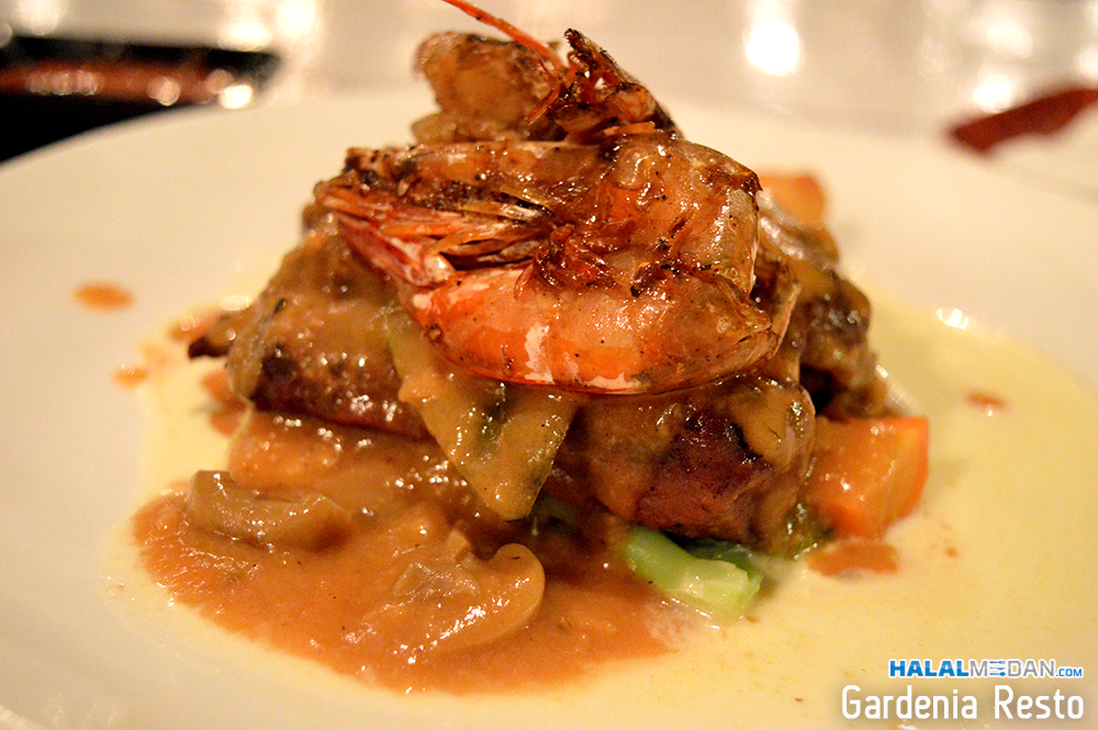 Tenderloin Steak Prawn Saos Mushrom